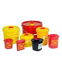 Емкость-контейнер 0,5 л. однораз. для органич. и неорганич. медицинских отходов, этикетка, (Класс Б)