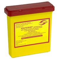 Емкость-контейнер д/сбора острого-инстр. 0,25 л. Класс Б (желтый)