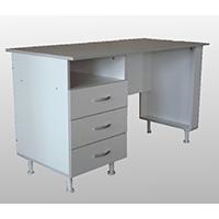 Стол для оснащение кабинета врача однотумбовый СМ-1.2 на опорах