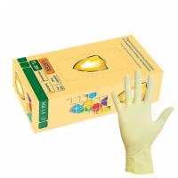 Перчатки смотровые н/с латексные опудренные гладкие р-р S(6-7) VM 50пар/уп