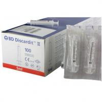 Шприц BD Discardit 5 мл 2-х компонентные Luer Slip с иглой 22 G (0,7 x 40 мм)