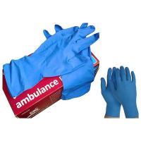 Ambulance PF перчатки повыш. прочн. смотр. латекс, текстур. неопудр. S